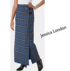 Jessica London wool blend long wrap skirt. Sz 16